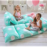 GIRL'S FLOOR LOUNGER SEATS COVER AND PILLOW COVER MADE OF SUPER SOFT LUXURIOUS PREMIUM PLUSH FABRIC - PERFECT READING AND WAT