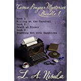 Cassie Pengear Mysteries books 1,2,3 - Killing at the Carnival, Death at Dinner, Stabbing Set with Sapphires