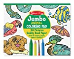 Melissa & Doug Jumbo Coloring Pad (11 x 14 inches) - Animals, 50 Pictures