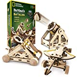 NATIONAL GEOGRAPHIC - Da Vinci's DIY Science & Engineering Construction Kit – Build Three Functioning Wooden Models: Catapult