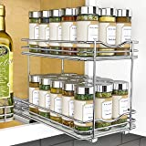 "Lynk 430622DS Professional Spice Racks - Two Tier 6"" Wide Chrome"