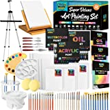 Keff Creations Professional Deluxe Painting Kit Contains all Painting supplies and accessories including paint tubes, table t