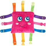 Buckle Toy - Bella Square - Learning Activity Toy - Develop Motor Skills and Problem Solving - Easy Travel Toy