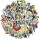The Legend of Zelda Game Stickers,50Pcs Vinyl Waterproof Stickers for Laptop,Bumper,Skateboard,Water Bottles,Computer,Phone,