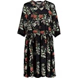 Studio Untold Women's Ulla Popken, Damen, Große Größen, Kleid mit Blumenprint Dress