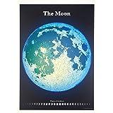 星の手帖社 精密夜光月面図ポスター