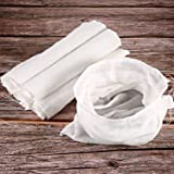 6 Packs Soft Cotton Muslin Cloth or Bags, Suit for Straining Fruit, Butter, Wine, Milk Filter in Home (50 x 30 cm, Muslin Bag
