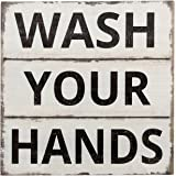 "Barnyard Designs Wash Your Hands Sign Primitive Country Farmhouse Bathroom Quotes Home Decor Sign 11"" x 11"""