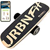 URBNFit Balance Board Trainer - Roller Board for Exercise, Athletic Training and Board Sports - Fun Workout Equipment for Bal