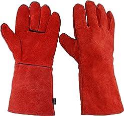 耐熱 グローブ 厚手 アウトドア クッキング 手袋 キャンプ BBQ 薪 ストーブ オーブン グリル 陶芸