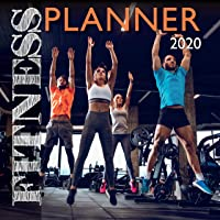 2020 Wall Calendar - Fitness Planner 2020, 12 x 12 Inch Monthly View, 16-Month, Includes 180 Reminder Stickers