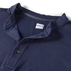 Mighty-Mac Shell Henley Tee: Navy