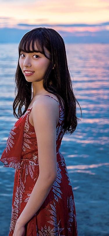 乃木坂46  iPhone/Androidスマホ壁紙(1125×2436)-1 - キャミワンピの新内眞衣さん 夕日の海をバックに