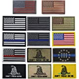 Creatrill Bundle 14 Pieces USA Flag Patch Thin Blue Line Tactical American Flag US United States of America Military Morale P