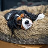 Luxury Dog bed pet bed for medium sized dogs -Luxury calming pet beds faux fur round donut dog beds or cat bed for small and
