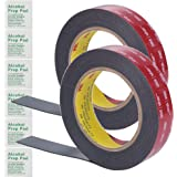 (2 Pack) 3M 1 Inch Width 15 Ft Length VHB 5952 Black Heavy Duty Multipurpose Double Sided Tape