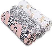 aden + anais Swaddle Baby Blanket, White Label