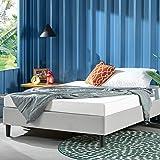 Zinus Curtis Queen Bed Base Ensemble Bed - Light Grey Fabric Mattress Base Foundation