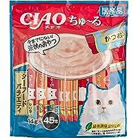 [Amazon限定ブランド] Figaro チャオ (CIAO) 猫用おやつ ちゅ~る シーフードバラエティ 14g×4…