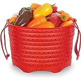 WAVELU Silicone Steamer Basket – [Pinch Tested] Instant Pot Accessory for Insta Pot 6 & 8 Quart IP, Ninja Foodi & Similar Siz
