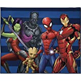 Marvel Avengers Odd Squad Kids Room Rug - Large Area Rug Measures 4 x 5 Feet - Featuring Spiderman, Iron Man, Black Panther,