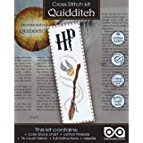 """Cross Stitch Kit""""Quidditch"""" - Hand Embroidery Bookmark"""