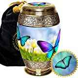 Butterfly Cremation Urns for Adult Ashes for Funeral, Burial, Columbarium or Home, Cremation Urns for Human Ashes Adult, Urns