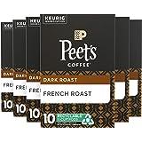 Peet's Coffee, French Roast, Dark Roast, K-Cup Pack , 10 Count (Pack of 6) ( Pack May Vary )