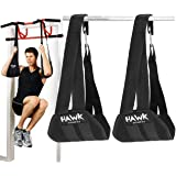Hawk Sports Ab Straps Hanging Abdominal Slings for Pullup Bar Chinup Exercise Abs Stimulator Trainer Toner Home Gym Fitness A
