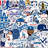 46 PCS Stickers Pack Dodgers Waterproof Colorful Vinyl Stickers for Water Bottle Laptop Scrapbooking Luggage Guitar Skateboar