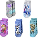 Disney Girls' Frozen 5 Pack Shorty, assorted sherbet, Fits Sock Size