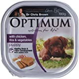 OPTIMUM Puppy With Chicken Wet Dog Food 100g Tray 12 Pack, Puppy, Small/Medium/Large