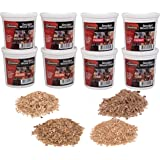 Camerons Wood Smoking Chips Value Gift Set - Set of 8 Pints Extra Fine Cut Sawdust Smoker Chips (2 Oak, 2 Cherry, 2 Hickory,