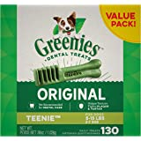 GREENIES Original Teenie Dental Dog Treat, 1kg (130 treats), Adult, Small/Medium/Large