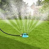 BOBOO Garden Sprinkler 360 Degree Rotating Lawn Sprinkler Automatic Irrigation System 3600 Square Feet Coverage Oscillating S