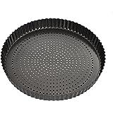 MASTERPRO MPCB40 Flan Quiche Tin, Carbon Steel/Black