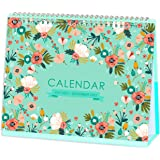Desk Calendar 2021-2022 - Standing Flip Desktop Calendar, Generous Memo Lined Pages with Thick Paper, July 2021 - Dec 2022, 1