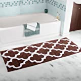 "Lavish Home Trellis Bathroom Mat, Chocolate, 24"" x 60"""