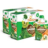 Happy Tot Organic Stage 4 Baby Food Love My Veggies Spinach Apple Sweet Potato & Kiwi, 4.22 Ounce Pouch (Pack of 16) (Packagi