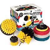 Drillbrush Power Scrubber Brush Set - Drill Brush Attachment - Grout Brush Drill Attachment - Drill Scrubber Attachment - Bat