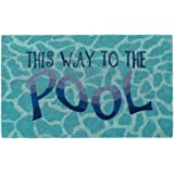 """Liora Manne NTR12220703 Natura Summer This Way to The Pool W Outdoor Welcome Coir Door Mat, 18"""" X 30"""", This"""