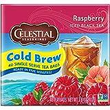 Celestial Seasonings Cold Brew Iced Tea, Raspberry, 40 Count (Pack of 6)
