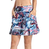 QING HONG Women's Workout Sports Skorts Golf Tennis Exercise Skirt with Pockets