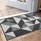 """Indoor Doormat, Non Slip Absorbent Resist Dirt Entrance Rug, 20""""x32"""" Machine Washable Low-Profile Inside Floor Door Mat(Black"""