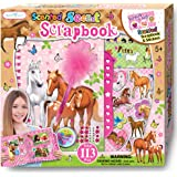 SMITCO Horse Gifts for Girls - Kids Scrapbook Crafts Kit for Ages 6-12- Hardback Sticker Activity Book and Horses Stuff Set