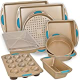 Perlli 10-Piece Nonstick Carbon Steel Bakeware Set with Baking Pans, Baking Sheets, Cookie Sheets, Muffin Pan, Bread Pan and