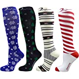 4 Pair Assorted Colors Compression Socks