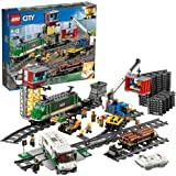 LEGO City Cargo Train 60198 Remote Control Train Building Set with Tracks for Kids, Top Present and Christmas Gift for Boys a