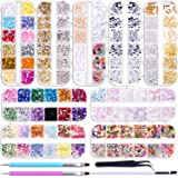 Duufin 12890 Pcs Nail Art Rhinestones Nail Art Crystal Jewels Nail Gems Nail Studs with 1 Pick up Tweezers and 2 Wax Pens for