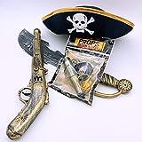 伊豆シャボテン本舗 海賊グッズ 帽子 銃 剣 なりきり4点セット コスプレ 子供 ハロウィン